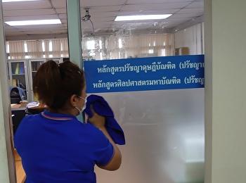 บัณฑิตวิทยาลัยคุมเข้มมาตรการทำความสะอาด ป้องกันไวรัสโคโรน่า