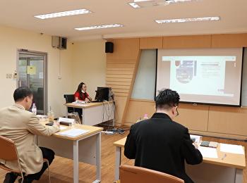 บรรยากาศการสอบป้องกันการค้นคว้าอิสระ หลักสูตรบริหารธุรกิจมหาบัณฑิต