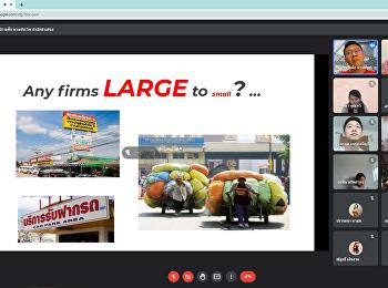 บรรยากาศการเรียการสอน Online วิชา MBA5702 การจัดการธุรกิจระหว่างประเทศ